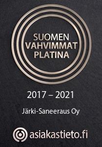 Asiakastieto - Suomen Vahvimmat Platina - Järki-Saneeraus Oy